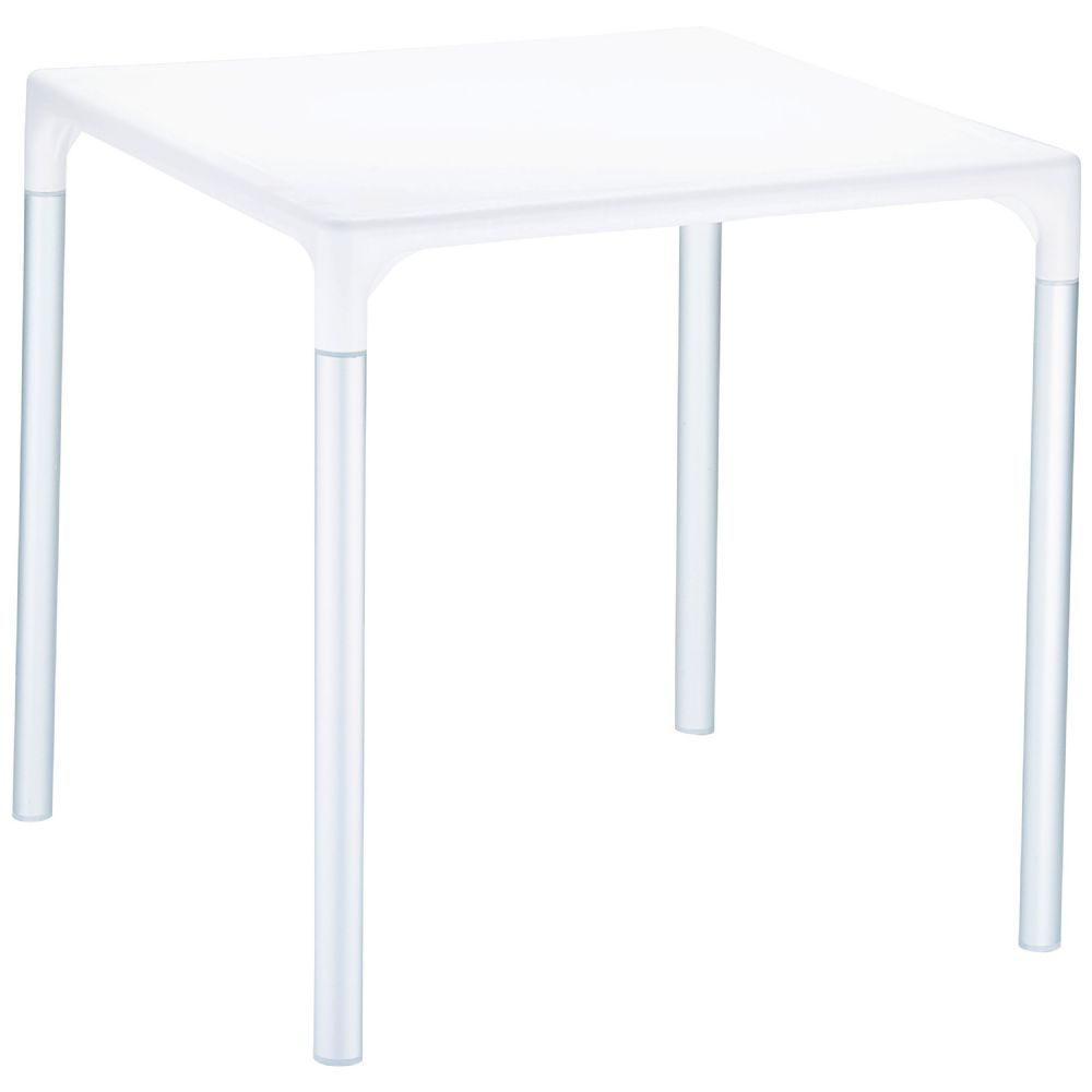 Mango Alu Square Outdoor Dining Table 28 inch White ISP758-WHI