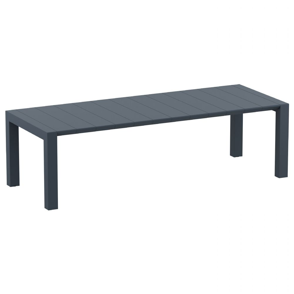 Vegas Outdoor Dining Table Extendable from 102 to 118 inch Dark Gray ISP776-DG