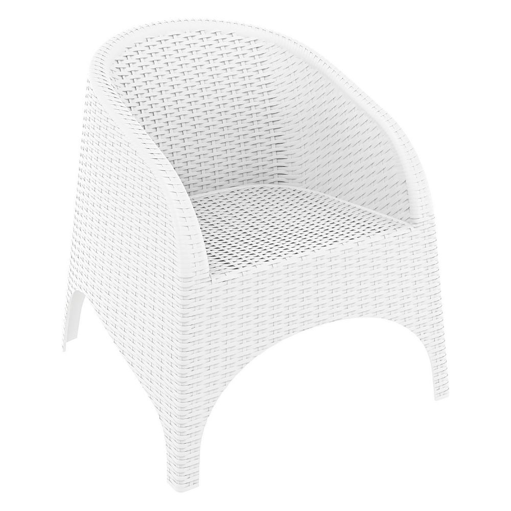 Aruba Wickerlook Chair White ISP804-WH