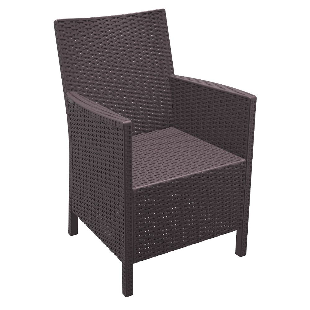 California Wickerlook Chair Brown ISP806-BR