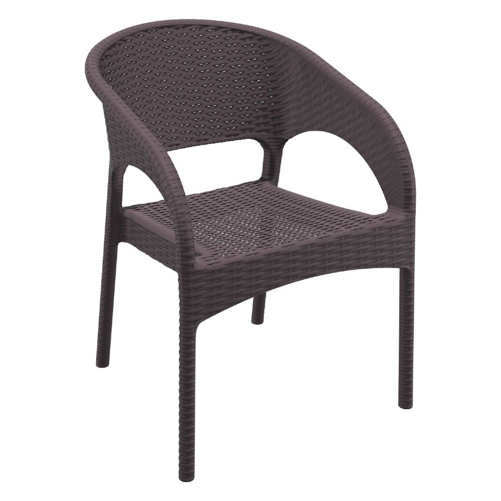 Panama Wickerlook Resin Dining Armchair Brown ISP808-BR