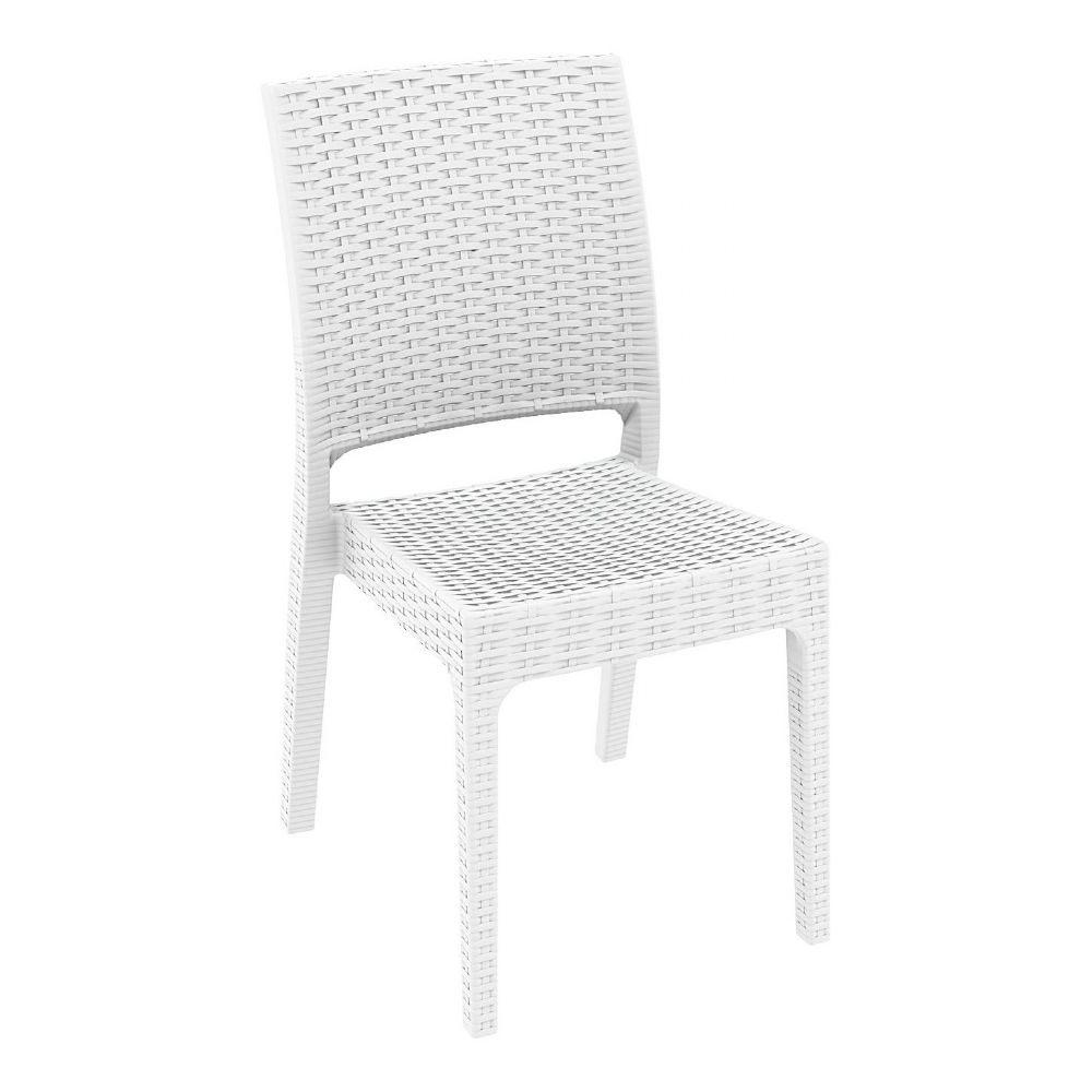 Florida Resin Wickerlook Dining Chair White ISP816-WH