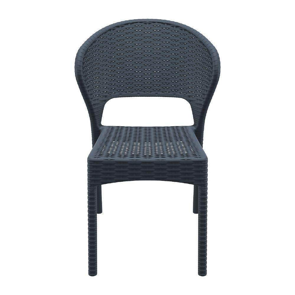 Compamia Daytona Wickerlook Resin Dining Chair Dark Gray