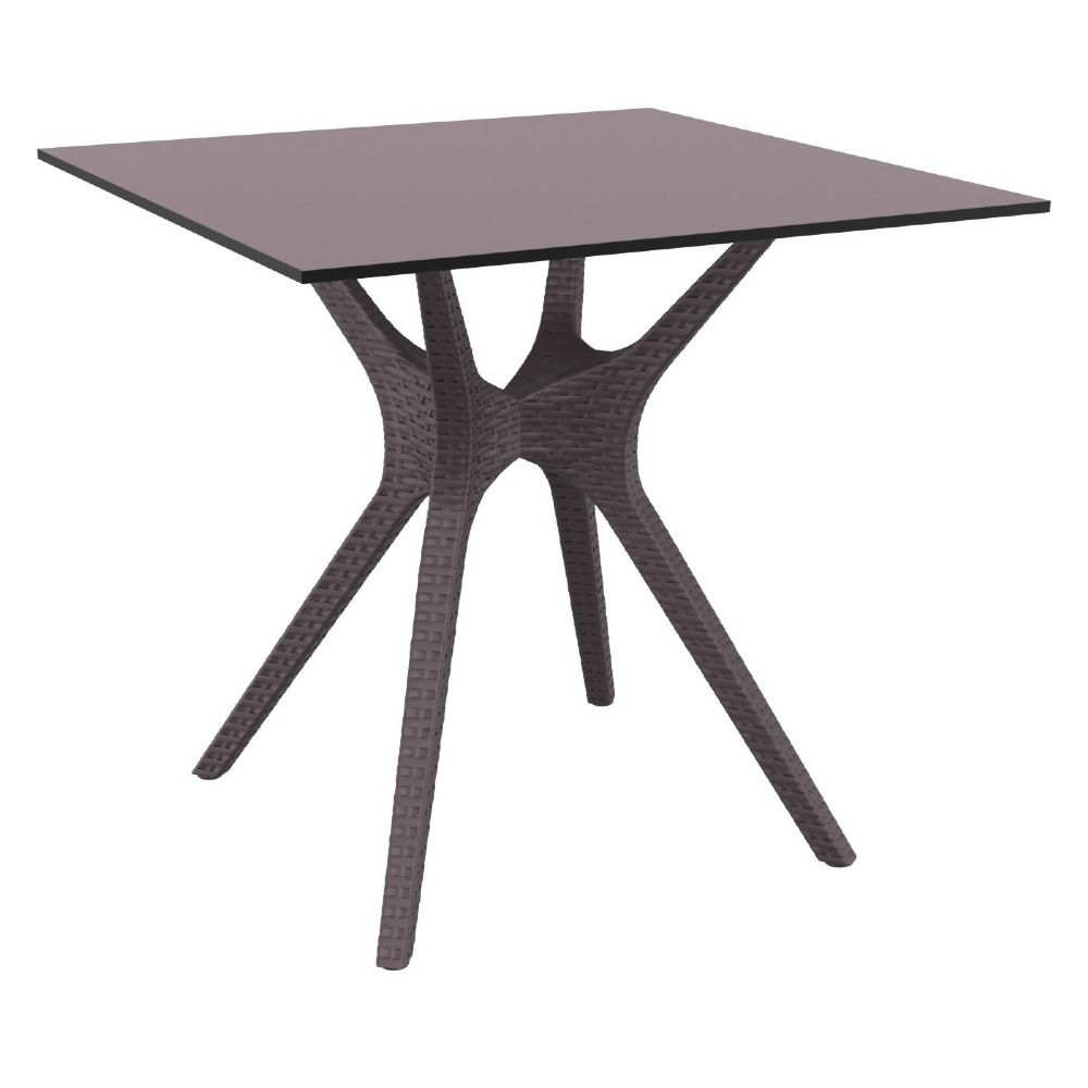Ibiza Square Dining Table 31 inch Brown ISP863-BR