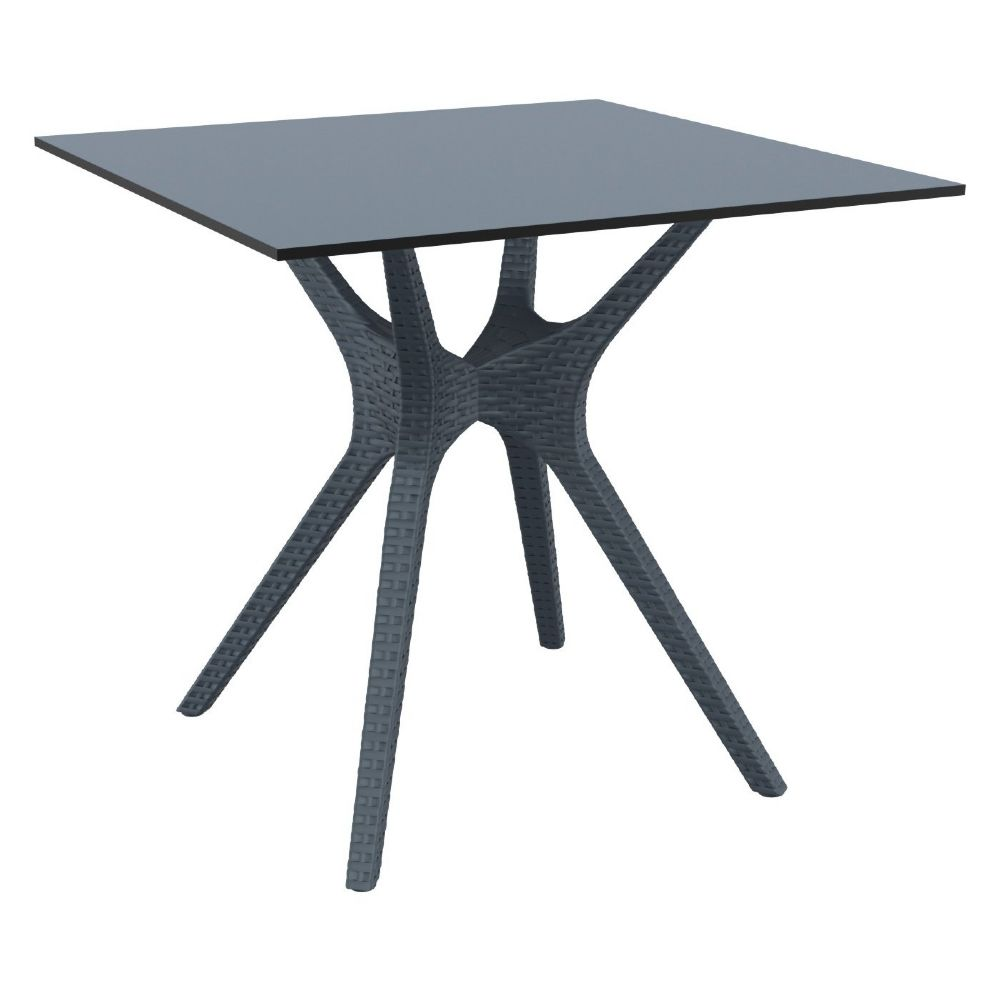 Ibiza Square Dining Table 31 inch Dark Gray ISP863-DG