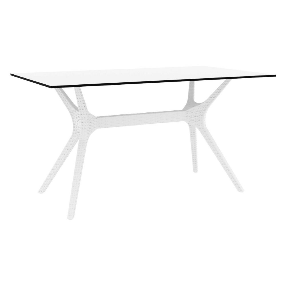 Ibiza Rectangle Dining Table 55 inch White ISP864-WH