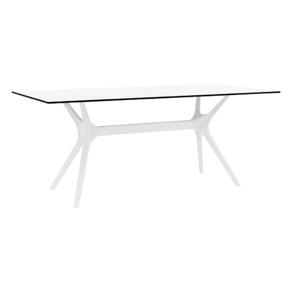 Ibiza Rectangle Dining Table 71 inch White ISP865-WH
