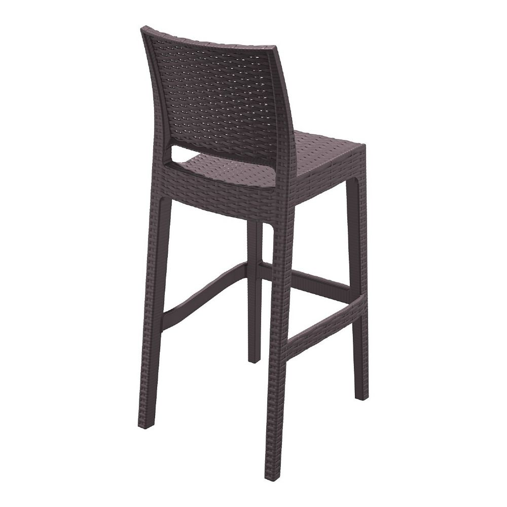 Compamia Jamaica Wickerlook Resin Bar Chair Brown Isp866 Br