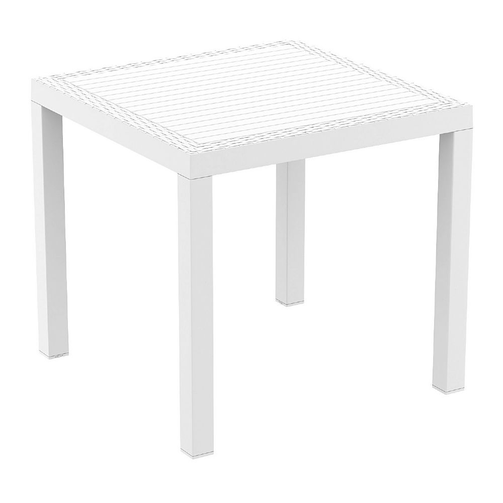 Orlando Wickerlook Square Dining Table White 31 inch. ISP875-WH