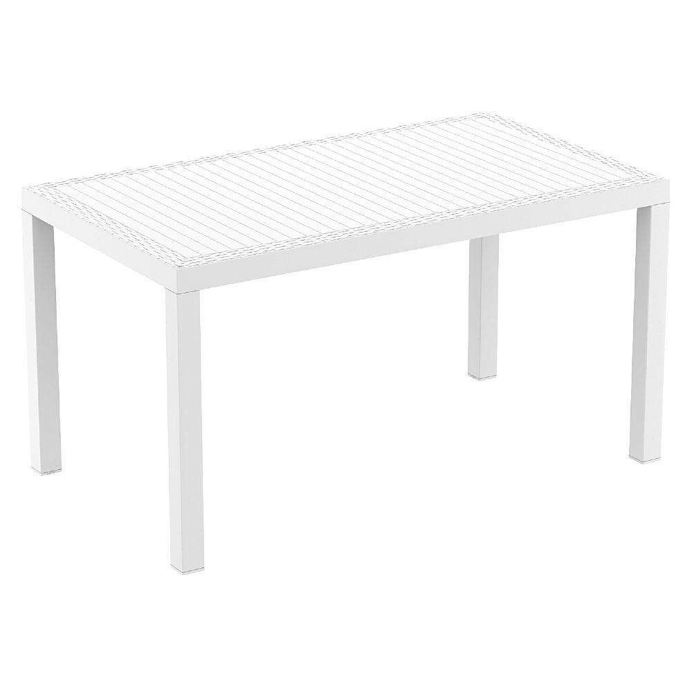 Orlando Wickerlook Rectangle Dining Table White 55 inch. ISP878-WH