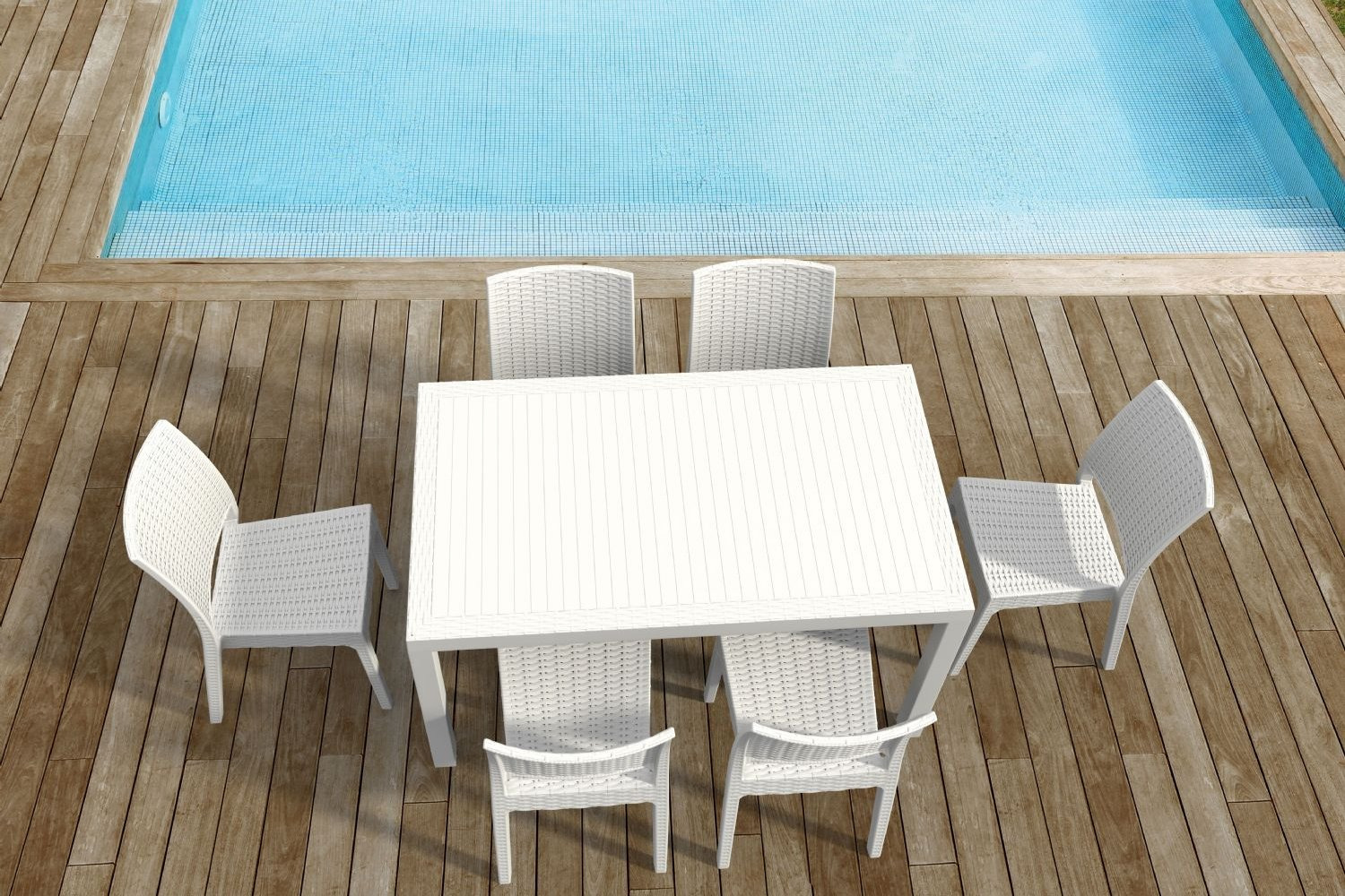 Compamia Orlando Wickerlook Patio Dining Set 7 Piece